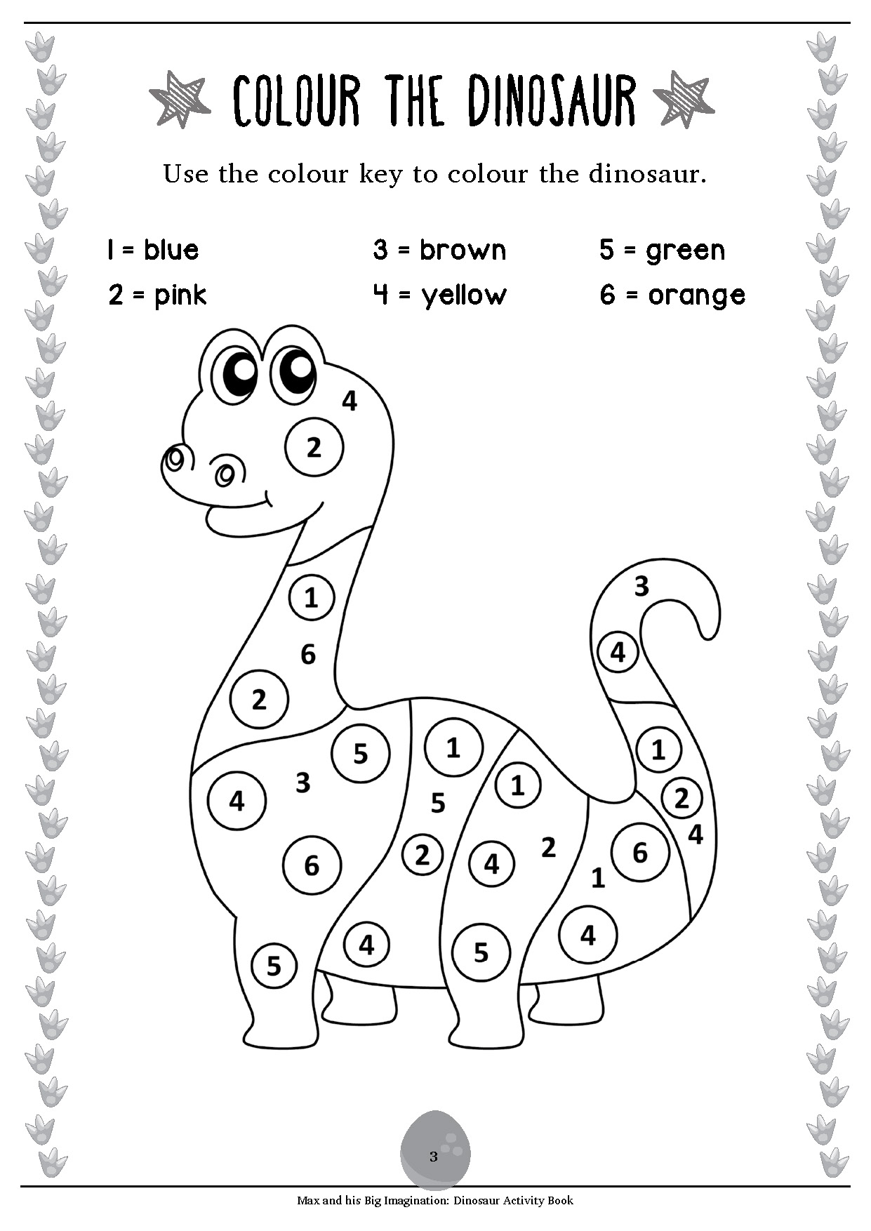Max Free Activity Worksheet: Dinosaur Activity Book Sample 2 ...